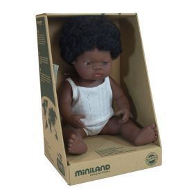 Miniland Doll African Girl 38 cm