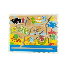 Animal and Number Maze Puzzle