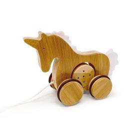 Kinderfeets Bamboo Pull Along Unicorn