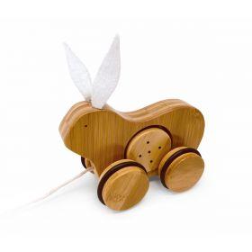 Kinderfeets Bamboo Bunny Pull Along