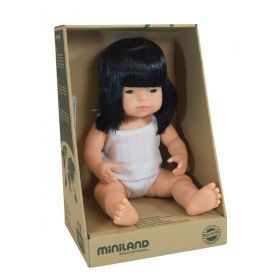 Miniland Doll Asian Girl, 38 cm