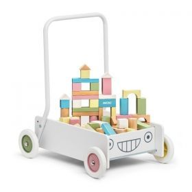 Baby Walker with Pastel Blocks