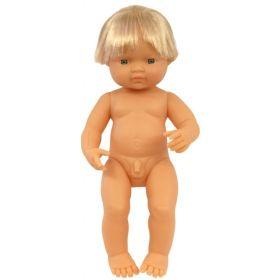 Miniland Doll Naked Caucasian Boy, 38 cm