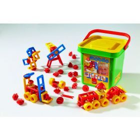 Mobilo Construction Toy - Junior Bucket 106 Pcs