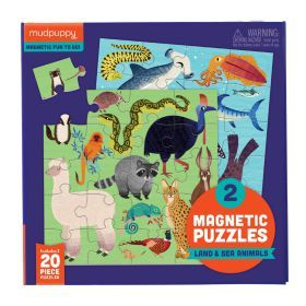 Magnetic Puzzle - Land and Sea 20 Pieces
