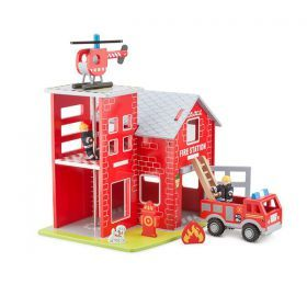 Complete Fire Station Set with Truck, Helicopter & much more