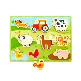 New Classic Toys Farm Chunky Puzzle