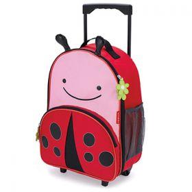 Skip Hop Zoo Kids Rolling Luggage - Ladybug
