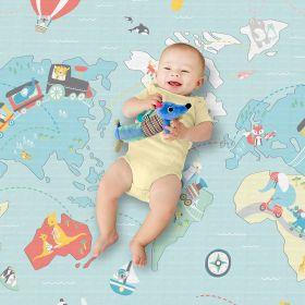 Skip Hop Doubleplay Reversible Playmat - Little Travelers/Herringbone