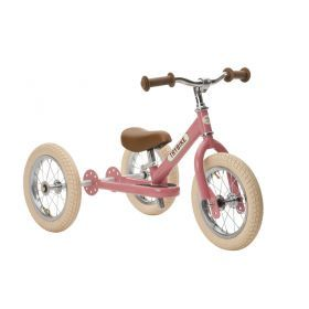 Trybike Steel Pink Vintage,Chrome Parts & Creme Tyres