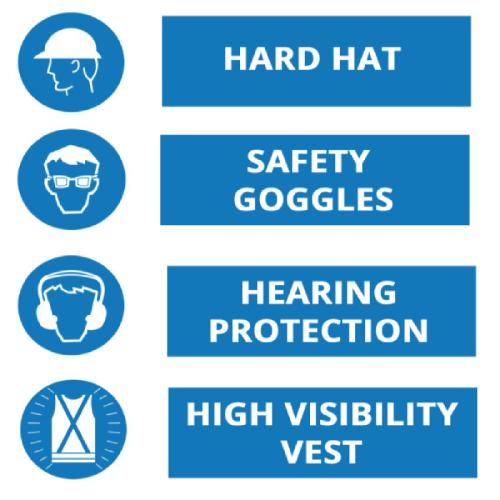 General induction training - PPE signage