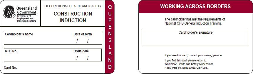 A Queensland (QLD) White Card