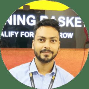 Sandeep Anuragi trainingbasket