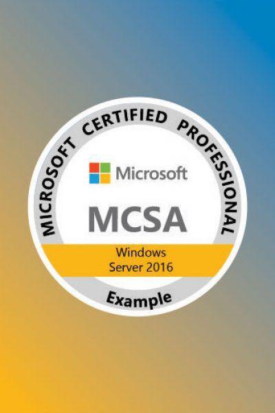 MCSA: Windows Server 2016 Cetification Training