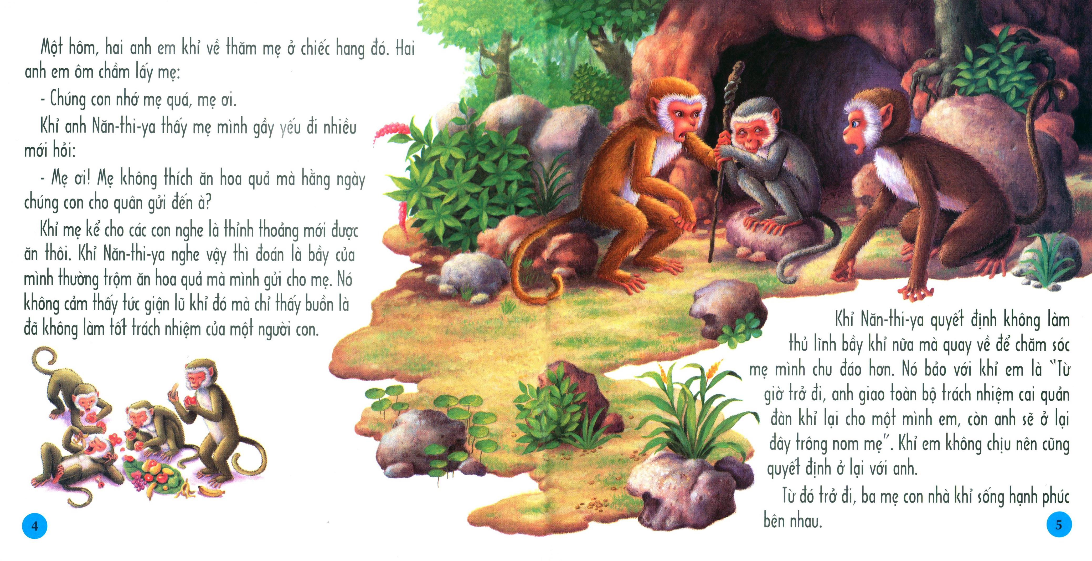 Hai anh em nhà khỉ - Truyện cổ Phật giáo Thái Lan