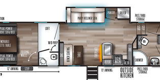 2021-FOREST RIVER-CHEROKEE-GREY WOLF 27RR-Forest River Inc.-For Sale