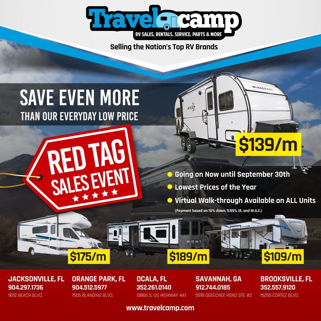 Red Tag Sales Event | Travelcamp
