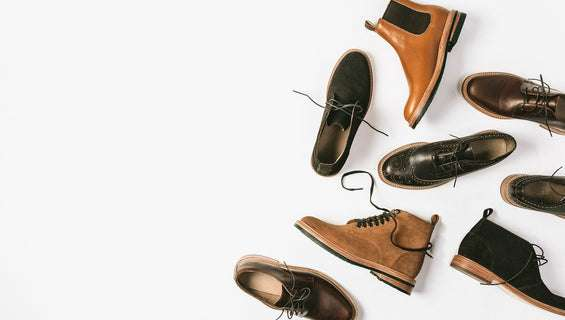 The assortment of Taylor Stitch footwear.