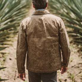 The Project Jacket in Field Tan Beeswaxed Canvas: Alternate Image 2