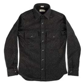 The Maritime Shirt Jacket in Charcoal Donegal Wool: Alternate Image 2