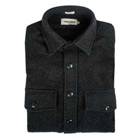The Maritime Shirt Jacket in Charcoal Donegal Wool: Featured Image