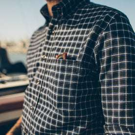 The Jack in Brushed Navy Plaid Flannel: Alternate Image 2