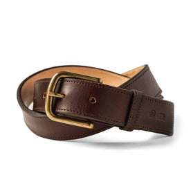 The Stitched Belt in Espresso: Featured Image