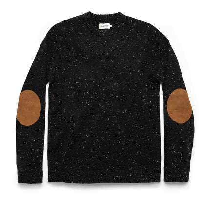 The Hardtack Sweater in Black Yak Donegal
