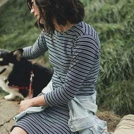 The Eva Dress in Indigo Stripe: Alternate Image 3