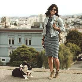 The Eva Dress in Indigo Stripe: Alternate Image 4
