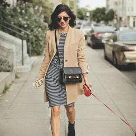 The Eva Dress in Indigo Stripe: Alternate Image 7