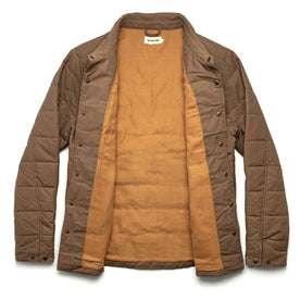 The Garrison Shirt Jacket in British Khaki Dry Wax: Alternate Image 10