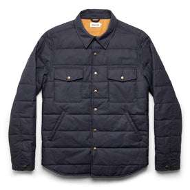 The Garrison Shirt Jacket in Navy Dry Wax: Featured Image