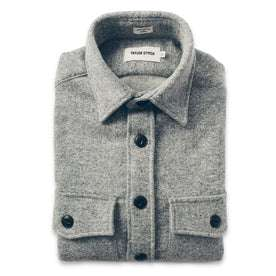 The Maritime Shirt Jacket in Ash Donegal Lambswool: Featured Image