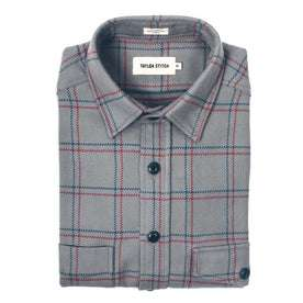 The Crater Shirt in Ash Plaid: Featured Image
