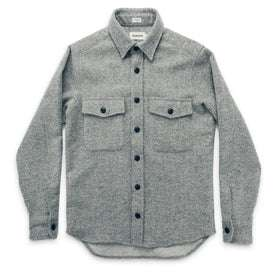 The Maritime Shirt Jacket in Ash Donegal Lambswool: Alternate Image 7