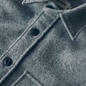 The Maritime Shirt Jacket in Ash Donegal Lambswool: Alternate Image 6
