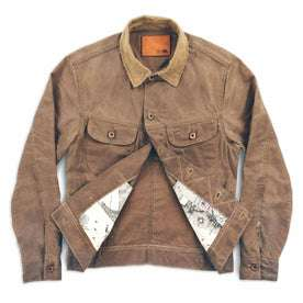waxed canvas jacket detail