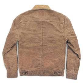 waxed canvas jacket - back