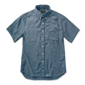 The Short Sleeve Jack in Sky Blue Chambray: Alternate Image 5