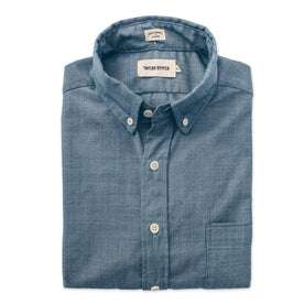 The Short Sleeve Jack in Sky Blue Chambray: Featured Image