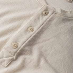 The Short Sleeve Henley in Natural Merino: Alternate Image 5