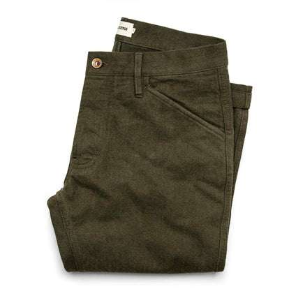 The Camp Pant in Heather Olive Twill