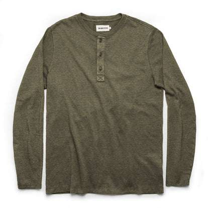 The Heavy Bag Henley in Fatigue Green