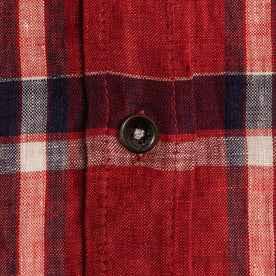 The Short Sleeve Jack in Crimson Plaid: Alternate Image 7