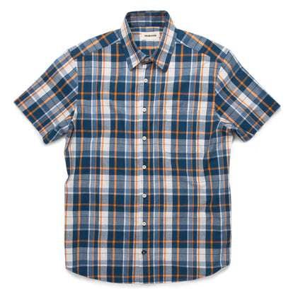 The Short Sleeve California in Blue Madras