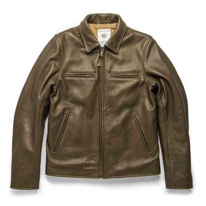 The Moto Jacket in Loden Steerhide