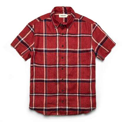 The Short Sleeve Jack in Crimson Plaid