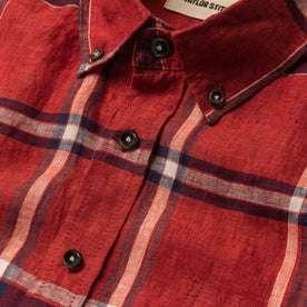 The Short Sleeve Jack in Crimson Plaid: Alternate Image 6