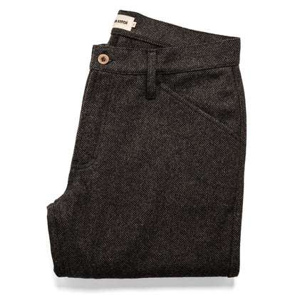 The Camp Pant in Charcoal Wool
